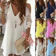 Mini, Plus Size, Lace, Dress
