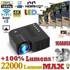 Hdmi, Mini, portableprojector, led