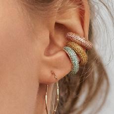 Jewelry, Crystal, cartilage earrings, nopiercingearcuff