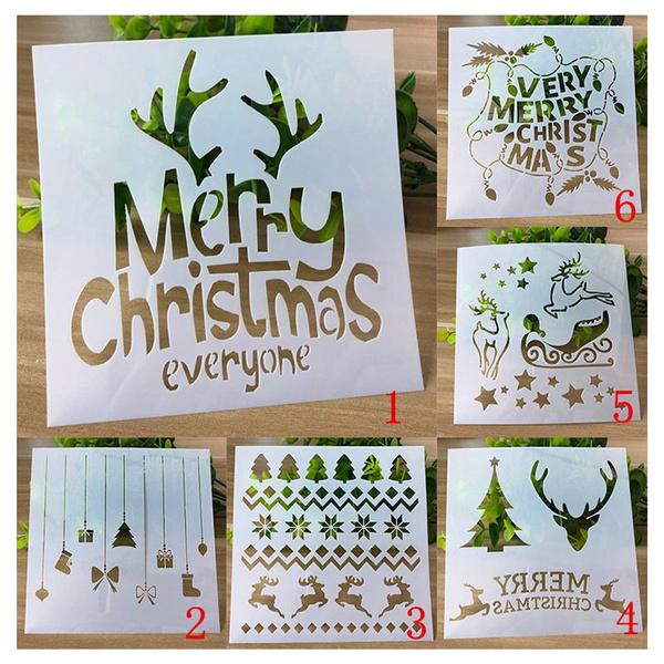 stencil, Scrapbooking, Christmas, kidsdiycraft