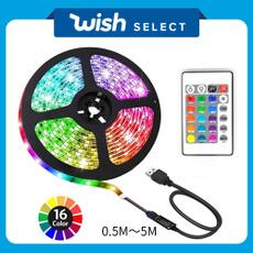 rainbow, LED Strip, Remote, usb