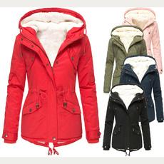 casual coat, hooded, velvet, Waist
