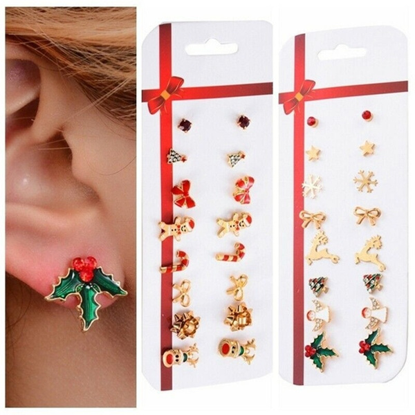 Bell, christmasproduct, animalearring, Jewelry