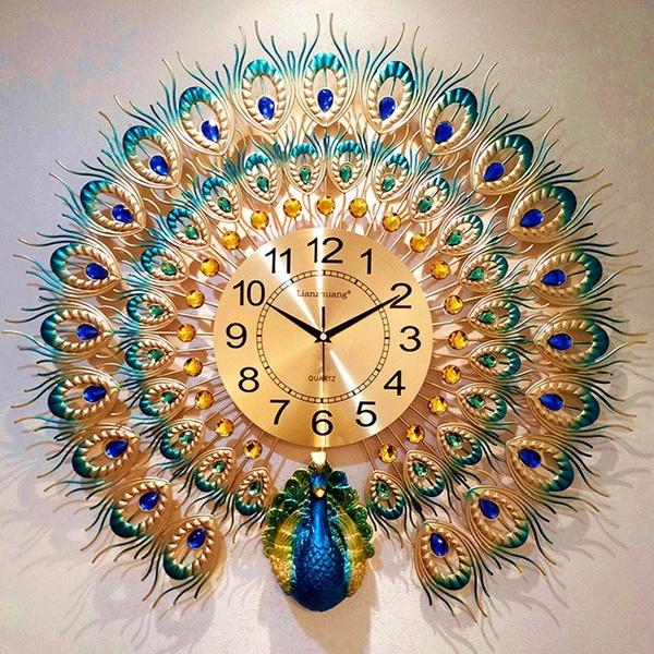 peacock, quartz, Wall Art, Home Decor