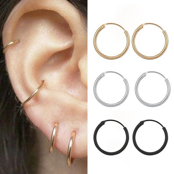 Hoop Earring, Jewelry, hiphopearring, Simple