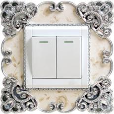 roomwalldecor, socketsurroundingcover, Home Decor, switchsurroundsticker