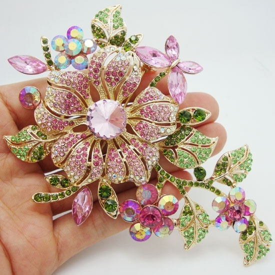 vintagebrooch, pink, fashionbrooch, Flowers