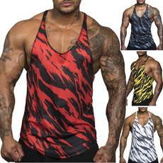 printedvestmale, bodybuildingvest, Summer, gymvest