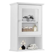 Bathroom, wallmounted, Wooden, Shelf