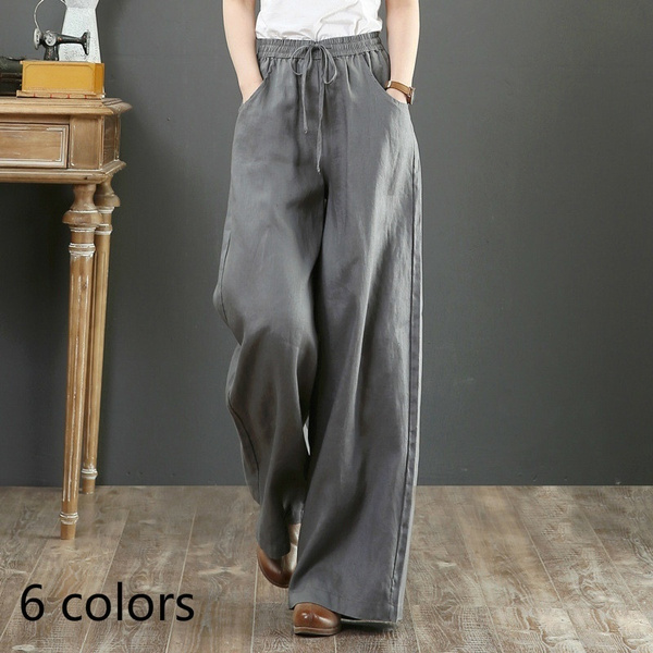 longtrouser, elastic waist, cottonpant, Waist