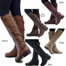 womensleathershoe, Knee High Boots, leather shoes, Womens Shoes