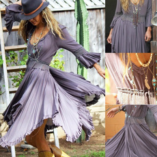Summer, dressesforwomen, Sleeve, long dress