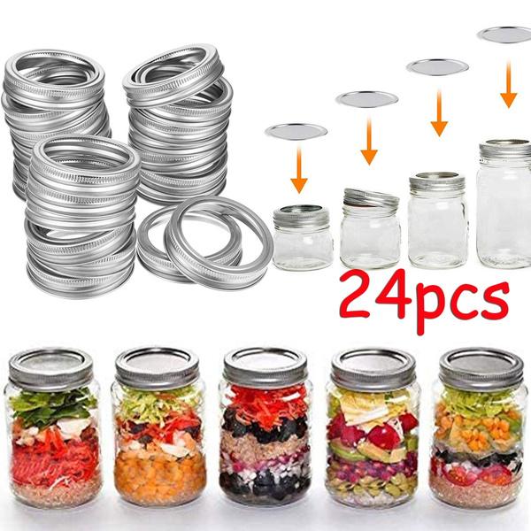 Steel, cancover, foodstoragelid, Jars