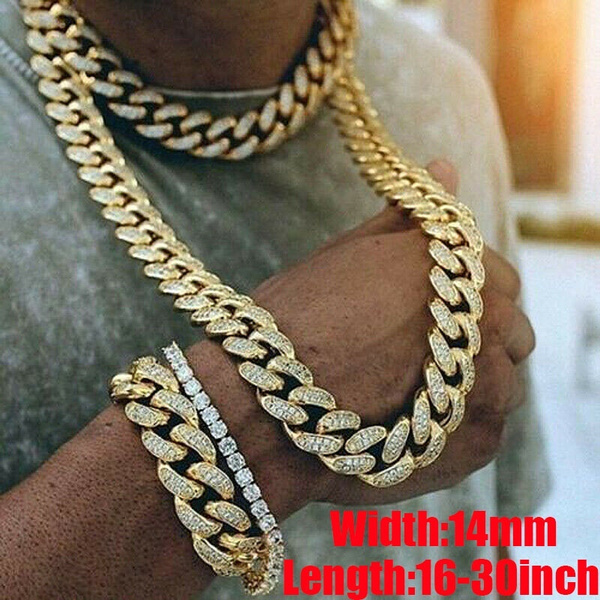 Sterling, hip hop jewelry, gold, 24kgoldnecklace