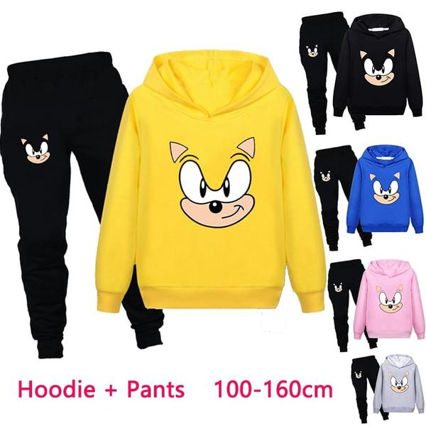 sonic, Fashion, Hoodies, printed