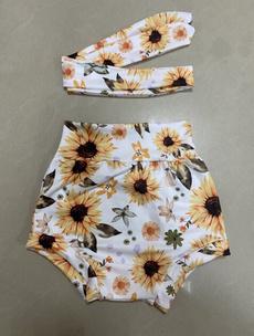Summer, elastic waist, babygirlshort, Casual pants
