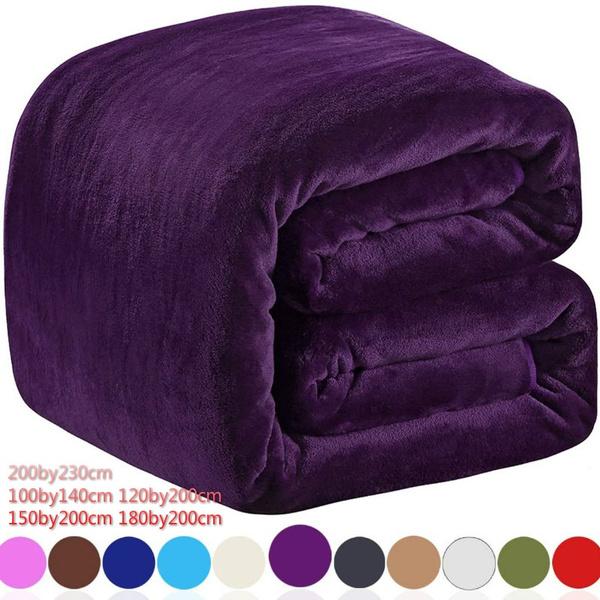solidblanket, flannelblanket, Cozy, purple