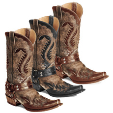 stetson, vintageboot, midcalfboot, Leather Boots