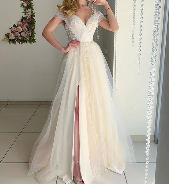 Summer, weddingdre, lacemididre, Evening Dress