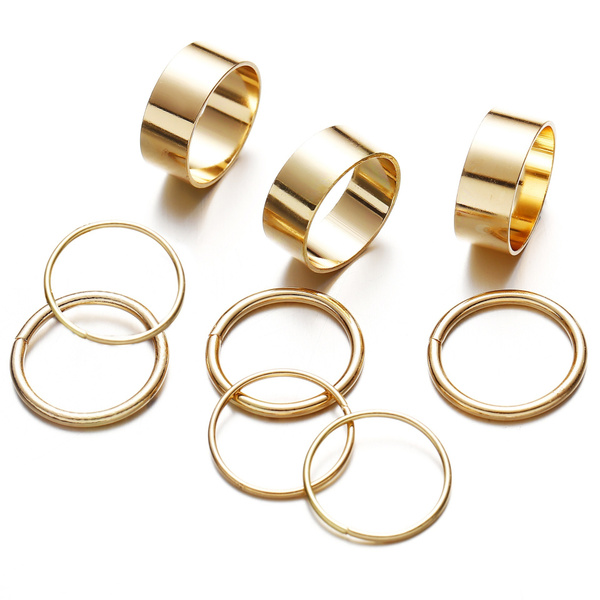 aboveknucklering, bandring, Jewelry, gold