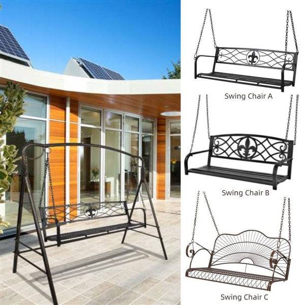 ironporchswing, Outdoor, swingbench, Patio Furniture & Accessories