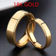wedding ring, gold, Simple, 18 k