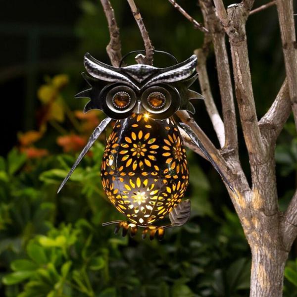 Owl, Lanterns & Lights, ledgardenlight, landscapedecorativelight