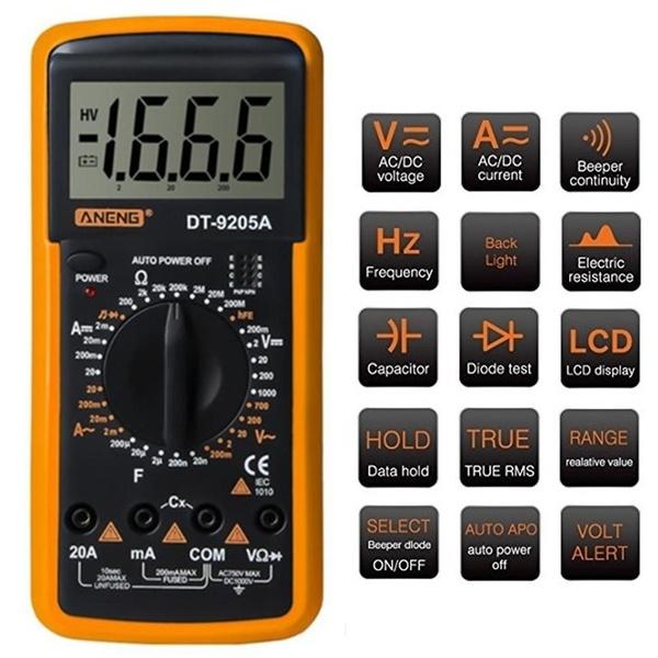 lcd, Multimeter, digitalmultimeter