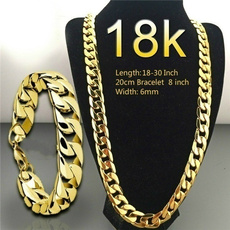 Chain Necklace, 18k gold, Joyería, Chain
