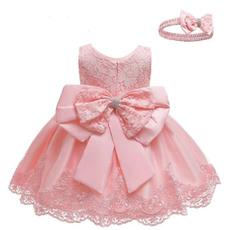 gowns, Baby Girl, princess dress, Encaje