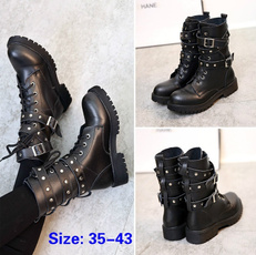Goth, Combat, Boots, Ladies