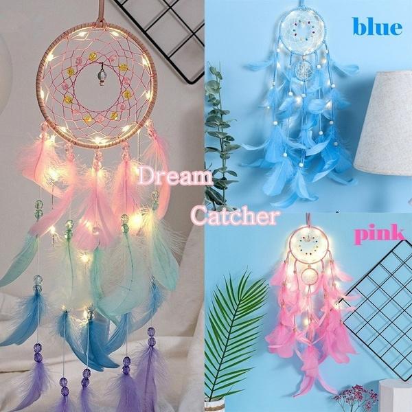 dreamcatcherpendant, colorfulfeather, Dreamcatcher, lights