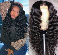 Black wig, wig, longstraighthair, Lace