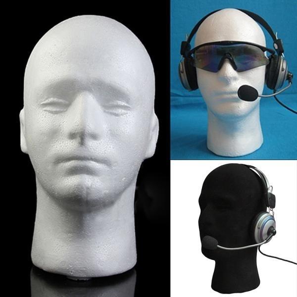 Fashion Female Styrofoam Mannequin Foam Head Model Glasses Hat Wig Display Stand