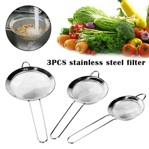 Steel, Stainless, Kitchen & Dining, liquidcolandersieve