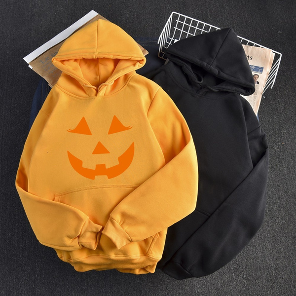 scary, garmentpumpkinprintedsweatercartoon, 女式卫衣绒衫, Cosplay