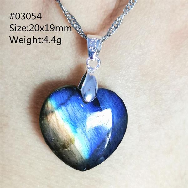 Blues, Heart, Stone, Natural