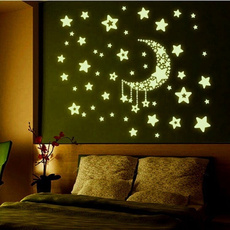 Star, fluorescence, wallstickersdecal, nightglowwallsticker