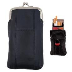 case, Pocket, black, leather