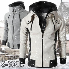 Stand Collar, Fashion, hooded, Winter