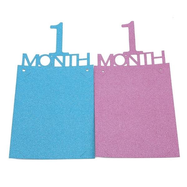 firstbirthday, Blues, Garland, monthly