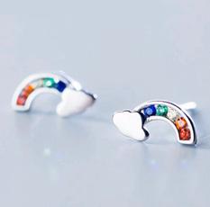 rainbow, Jewelry, Beauty, Stud Earring