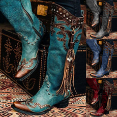 Fashion, Leather Boots, Zip, workboot