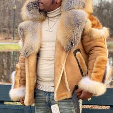motorcyclejacket, Plus Size, fur, Winter