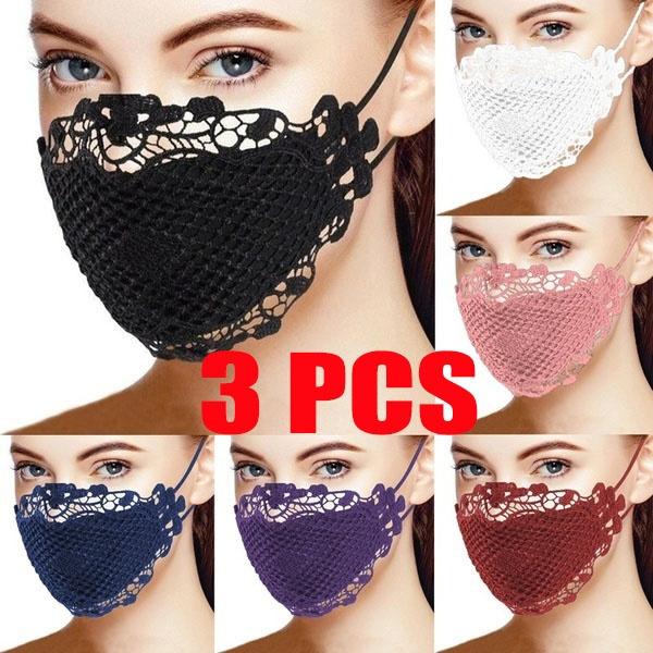 Fashion, mouthmask, sequinmask, Masks