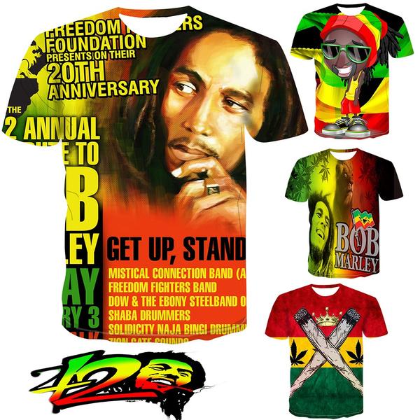 Summer, Plus Size, reggae, creative3dtshirt