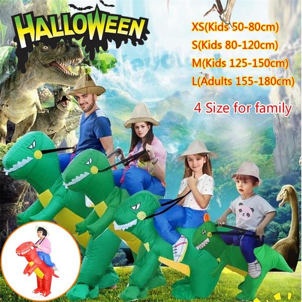 Funny, dinosaurcosplay, inflatabledinosaurcostume, standridingdinosaur