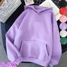 Fleece, Casual Hoodie, Sleeve, Long Sleeve