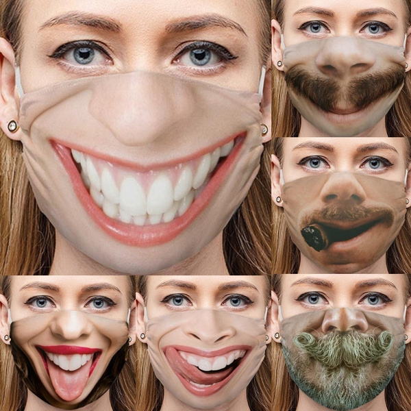 Funny, Cotton, mouthmask, adultmask