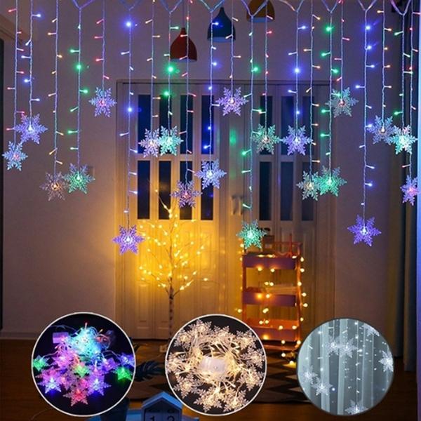 weddingdecorativelight, christmasfairylight, Outdoor, snowflakeflashinglight